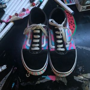 Cotton candy cameo Vans